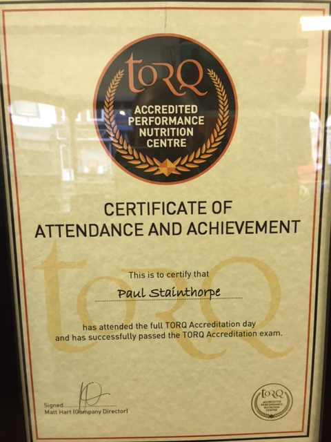 TORQ Accredited performance Nutrition Centre