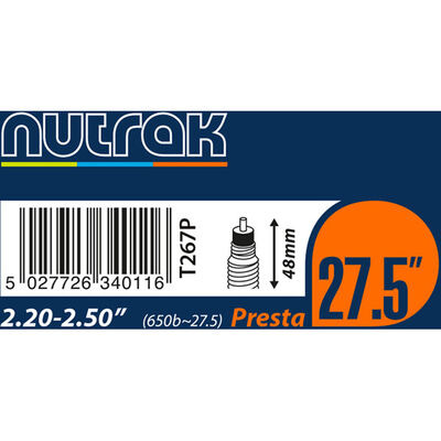 "NUTRAK 26x4.0 - 4.3"""" Presta 1.3 mm butyl"