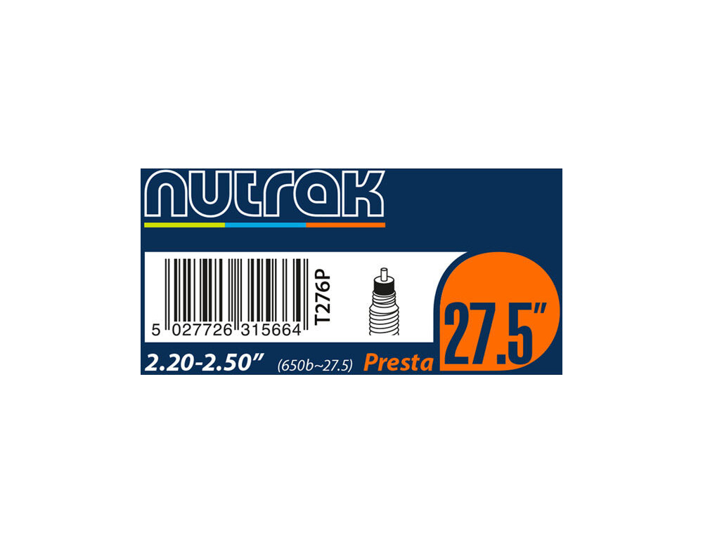 27.5 inch or 650B x 2.5-3.0 Presta inner tube Nutrak