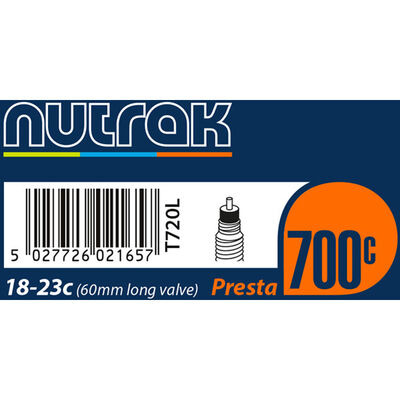 NUTRAK 700x18 - 23C Presta 60 mm long valve