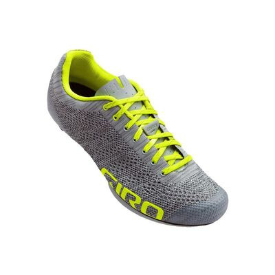 GIRO Empire E70 Knit Road Cycling Shoes Grey Heather/Highlight Yellow