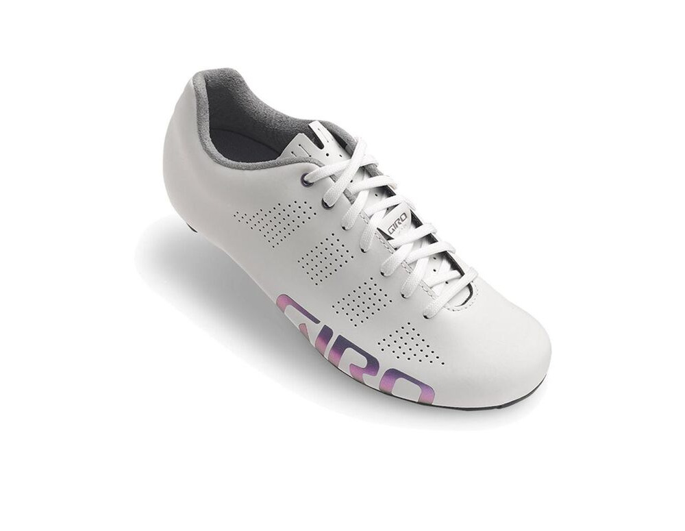 GIRO Empire Acc Women's Road Cycling Shoes White Reflective click to zoom image