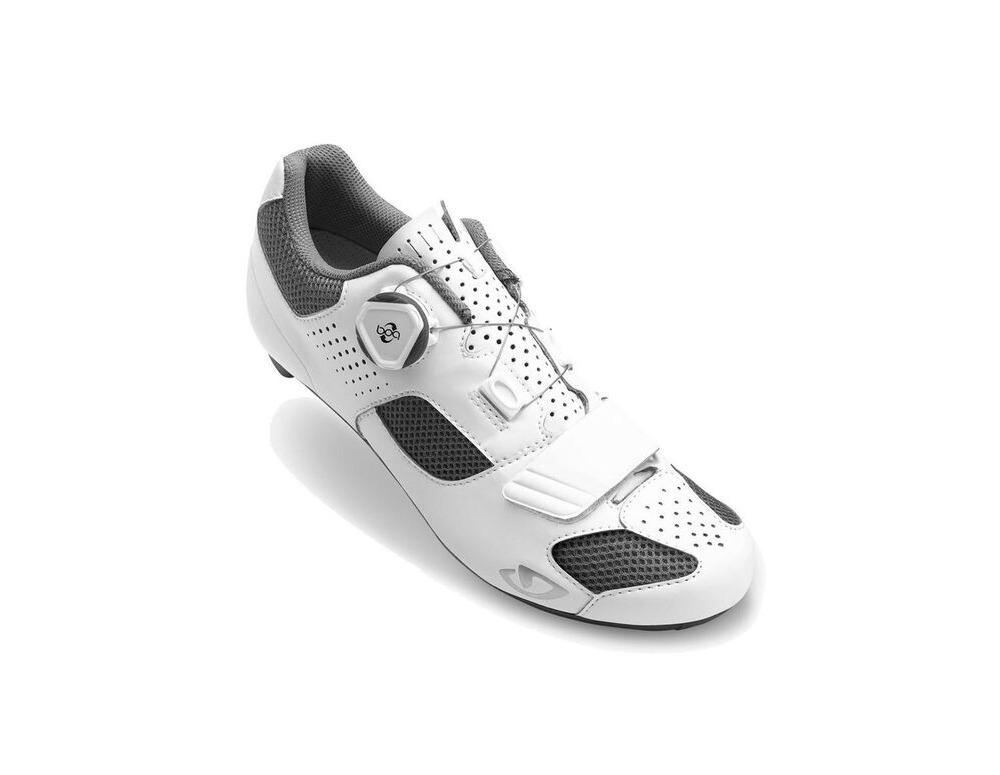GIRO Espada (Boa) Women's Road Cycling Shoes White/Silver click to zoom image
