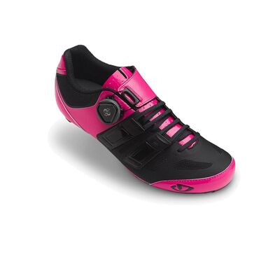 GIRO Raes Techlace Women's Road Cycling Shoes Bright Pink/Black