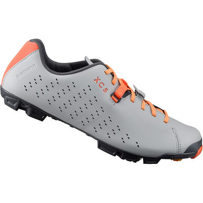 SHIMANO XC500 SPD MTB shoes, grey/orange