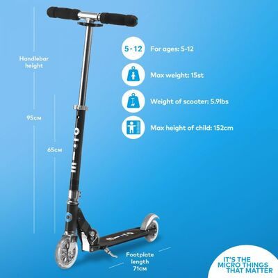 MICRO SCOOTERS Sprite  Black  click to zoom image