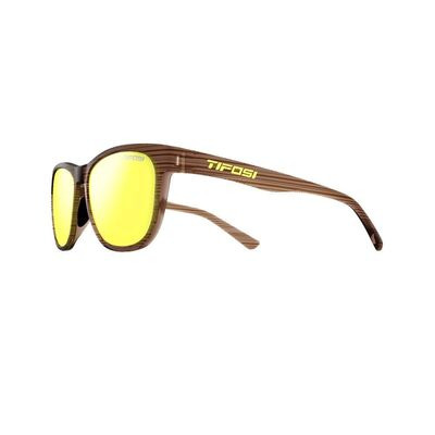 TIFOSI Swank Single Lens Eyewear 2019 Woodgrain/Smoke Yellow
