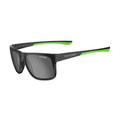 TIFOSI Swick Polarised Single Lens Eyewear 2019 Satin Black/Neon/Polarised Smoke