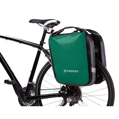 CROSSO Dry 60L Panniers Klickfix  Green  click to zoom image