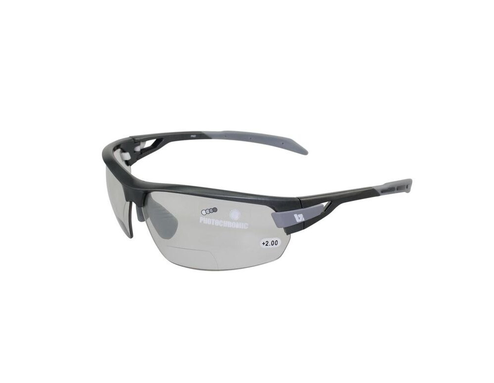 BZ OPTICS PHO Bi-focal Photochromic Glasses Graphite click to zoom image