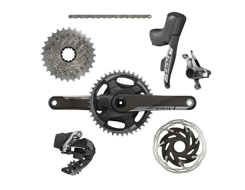 SRAM Red Etap AXS 1x D1 Electronic Hrd Groupset (Shift/Hyd Disc Brake Sj Hose Connected, Rear Der And Battery, Charger And Cord, And Quick Start Guide) click to zoom image