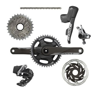SRAM Red Etap AXS 1x D1 Electronic Hrd Groupset (Shift/Hyd Disc Brake Sj Hose Connected, Rear Der And Battery, Charger And Cord, And Quick Start Guide)