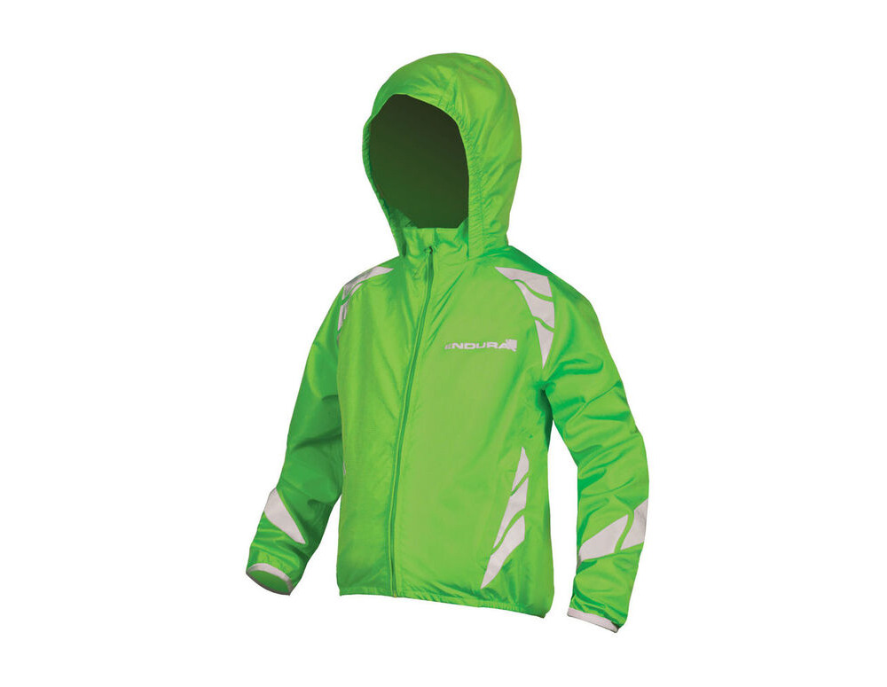 ENDURA Kids Luminite Jacket II HiVizGreen click to zoom image