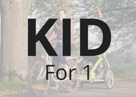 Kid for two kids trailer